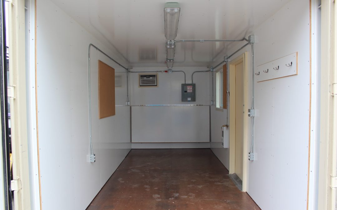 Image of the inside of an office container