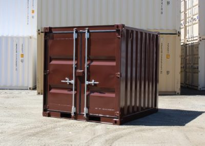Feature Project Brown Paint front view of container