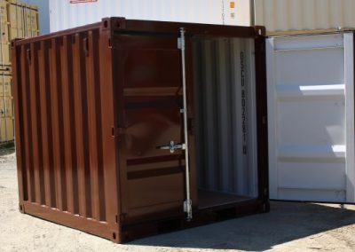 Feature Project Brown Paint image of container with one door open