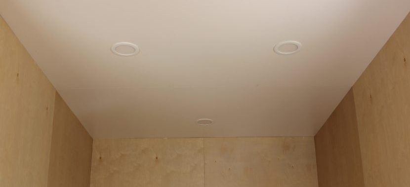 Image of lED lights in a ceiling